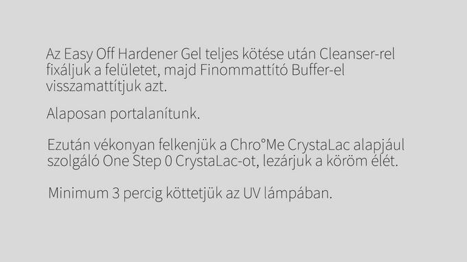 Chro°Me CrystaLac Anwendung mit ablösbarer Naturnagelverstärkung